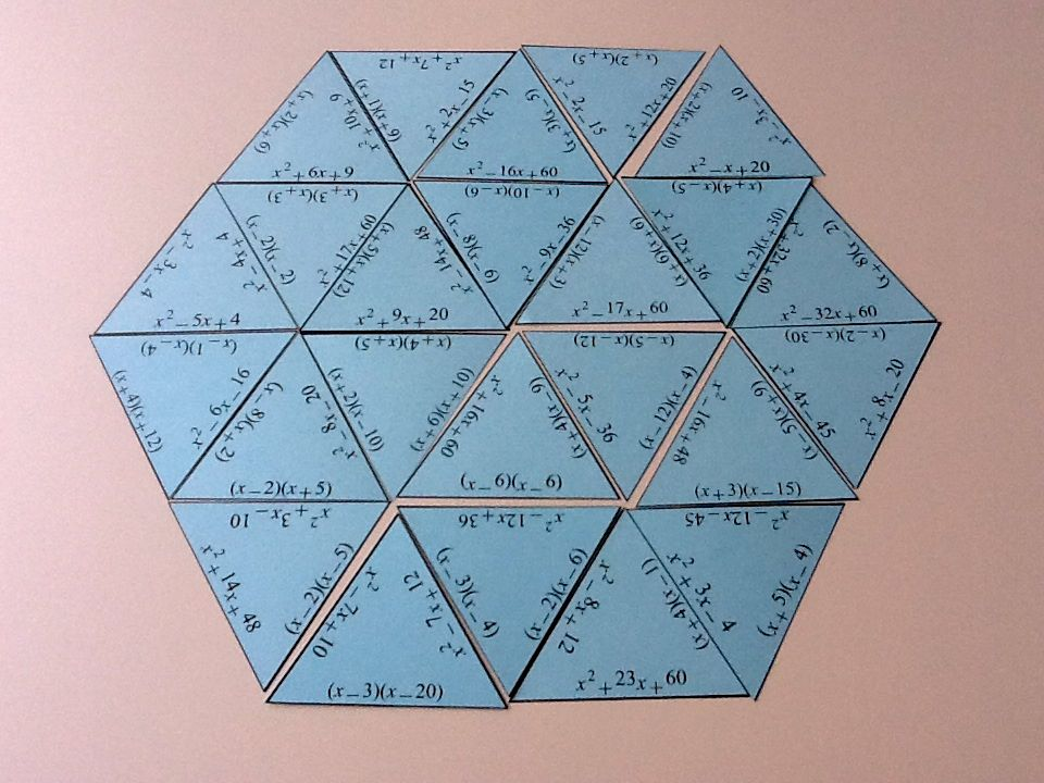 factoring trinomials tarsia normal factoring trinomials tarsia larger ...
