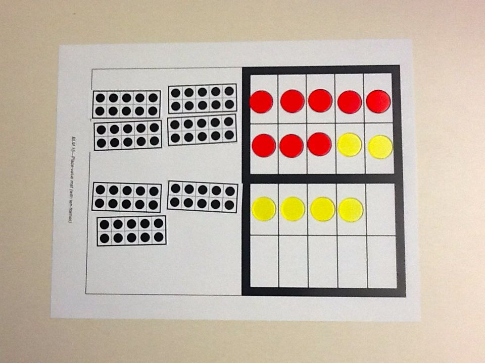 Teaching Improper Decimals Using Ten Frames Reflections