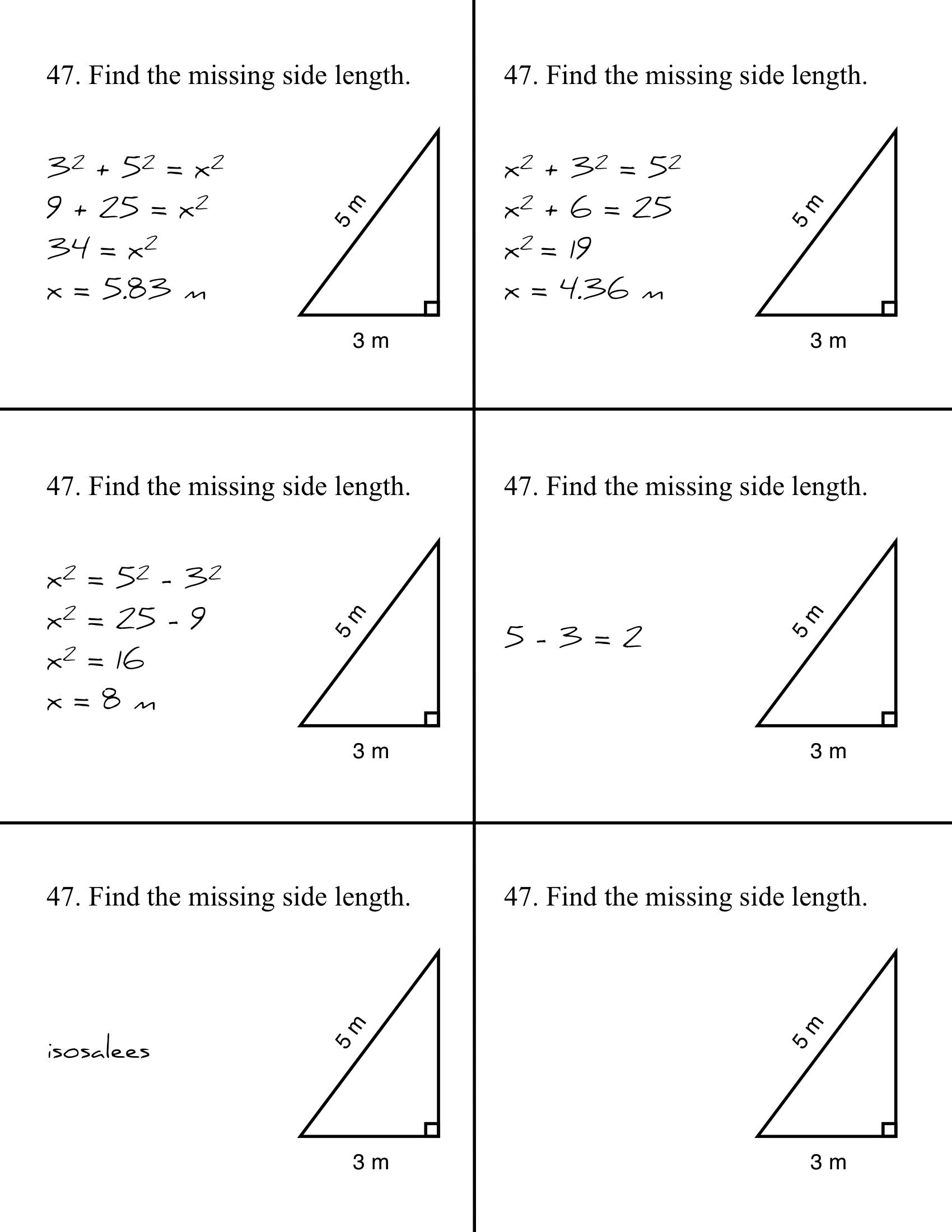 Pythagorean theorem homework help