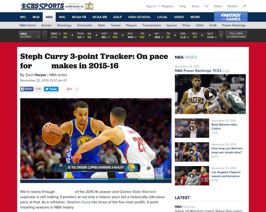 Steph Curry On Pace Headline Retouch